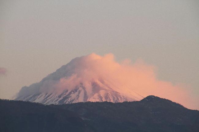 24日 6-21 今朝の富士山