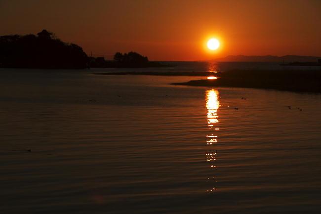 狩野川の夕日-1