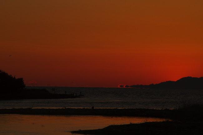 狩野川の夕日-3-1