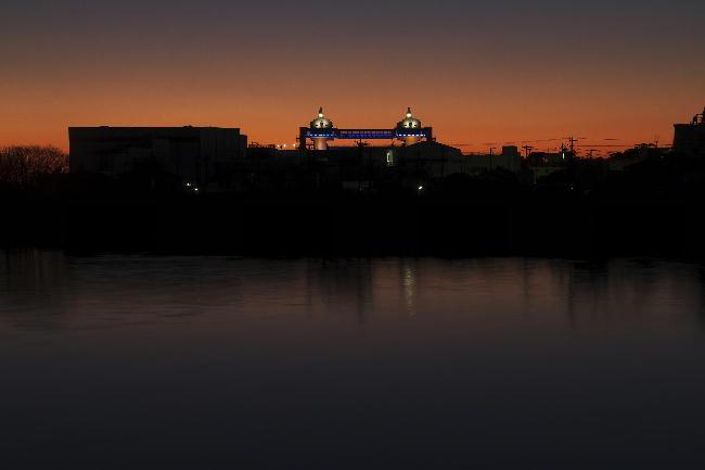 狩野川の夕陽-5