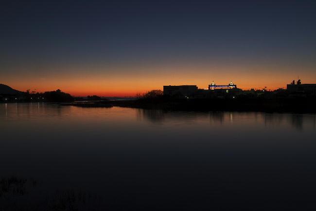 狩野川の夕陽6
