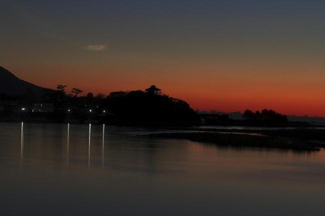 狩野川の夕陽-7