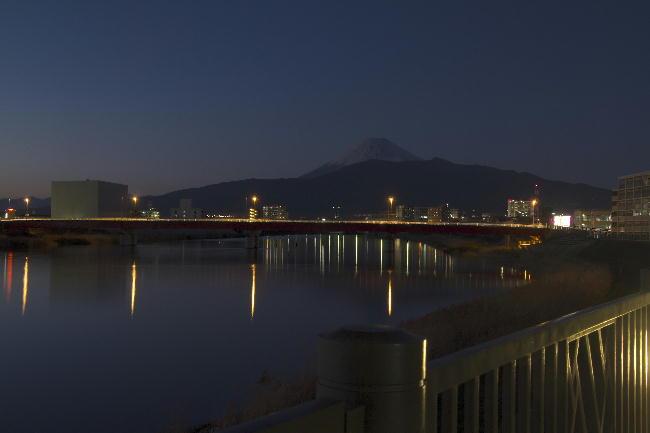 夕暮れの狩野川-1