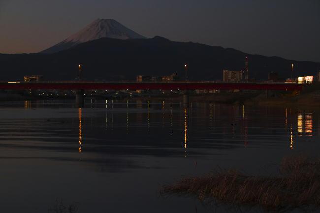 夕暮れの狩野川-2