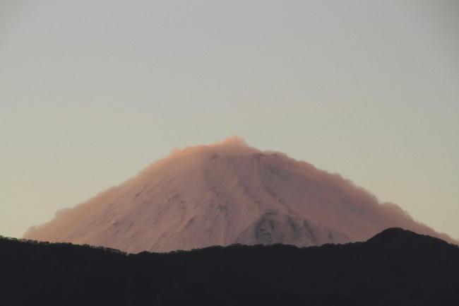 4日 18-08 夕方の富士山
