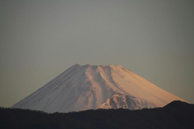 4日 5-38 今朝の富士山