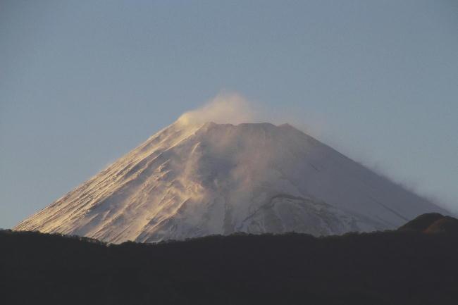 7日 17-45 夕方の富士山
