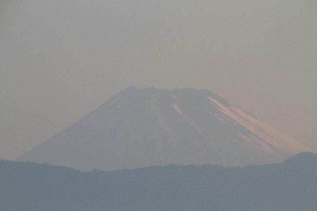 4日 4-56 今朝の富士山