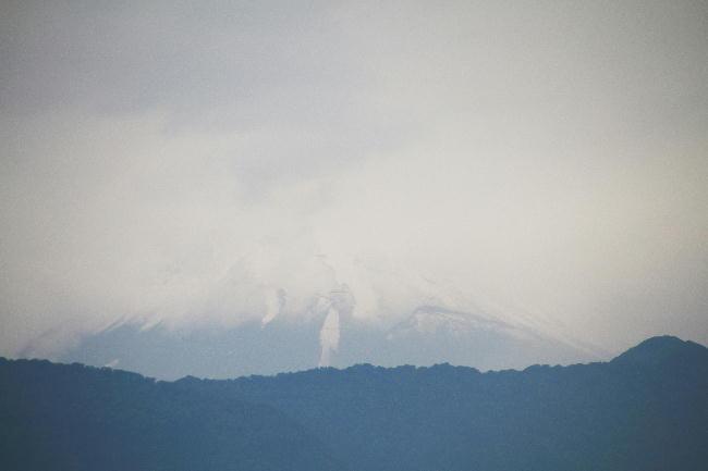 7日 7-47 今朝の富士山