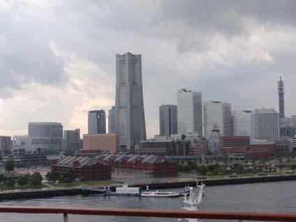 船から見た横浜
