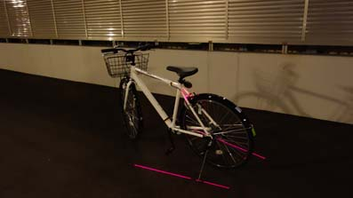 自転車後方ライト