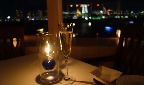 夜景ディナー