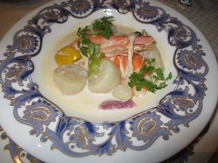 アンシャンテ・お魚料理