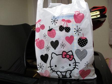 2013年6月発表会記念品・キティ袋
