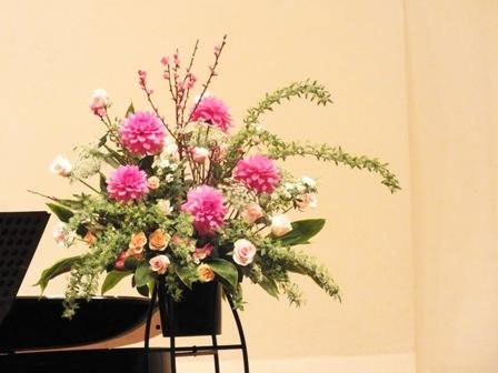 発表会のお花2013年3月2日