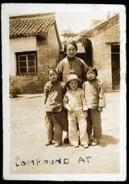 Gladys with three orphan children