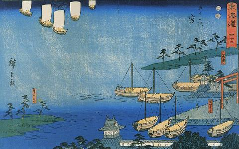 800px-Hiroshige,_View_of_a_harbour