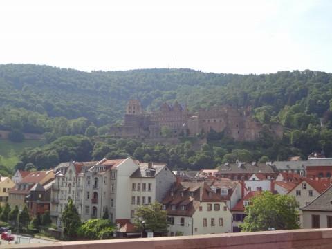 アルテブリュッケからHeidelberg城を臨む