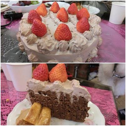 バースデーケーキ、アップルパイ