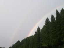 河鹿荘から見えた2重の虹