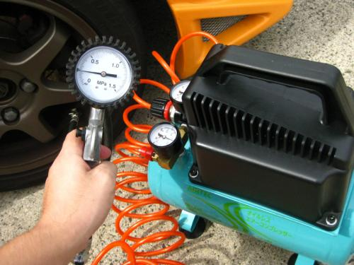 タイヤの空気圧管理に