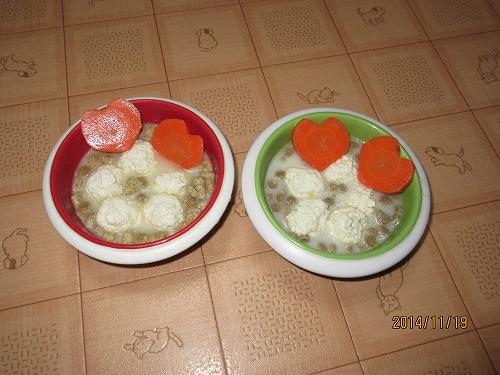鶏肉だんごヤギミルクスープ