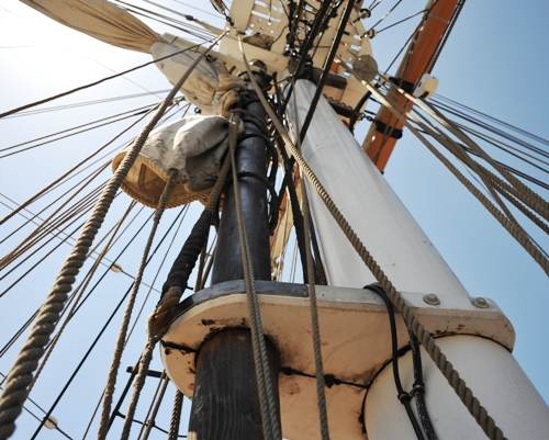 Pilgrim (10) Main Mast Snow Rig