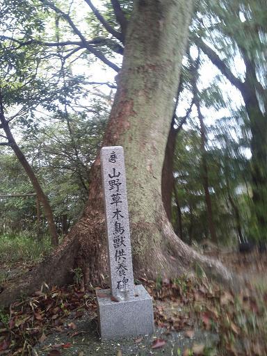 山野草木鳥獣供養碑