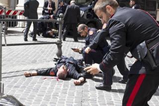 carabiniere colpito