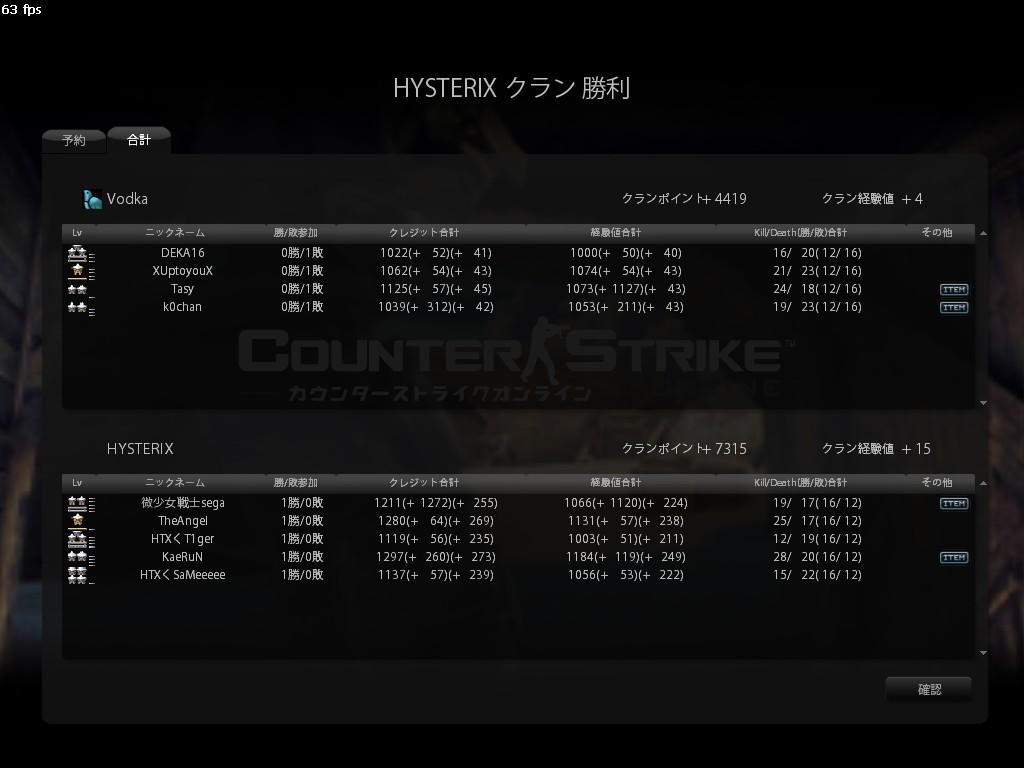 vs HYSTERIX