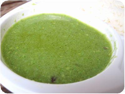 グリーンチキンカレー