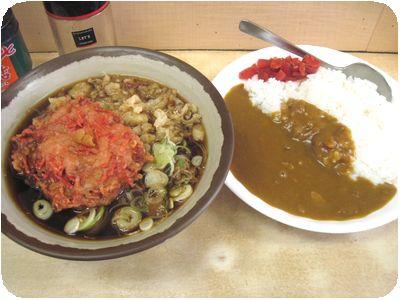 カレーセット+紅生姜天