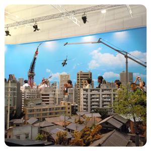 特撮博物館 ミニチュアで見る昭和平成の技・ジオラマブース全体