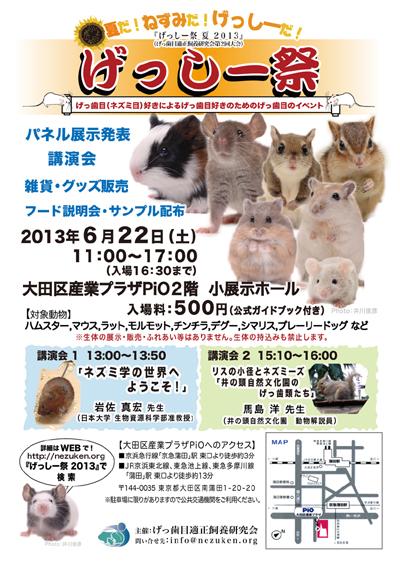 げっしー祭2013ポスターw400