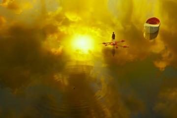 『ライフ・オブ・パイ』 海に空が映り込んで一体化している