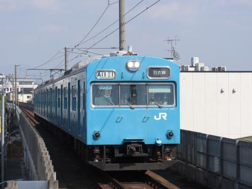 103系3両東羽衣駅