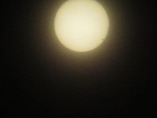 金星の太陽面通過(13時半)