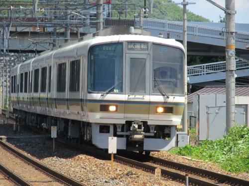 試運転221系 島本駅