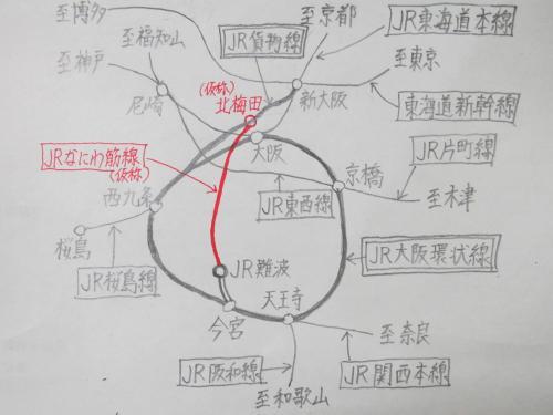 なにわ筋線計画地図