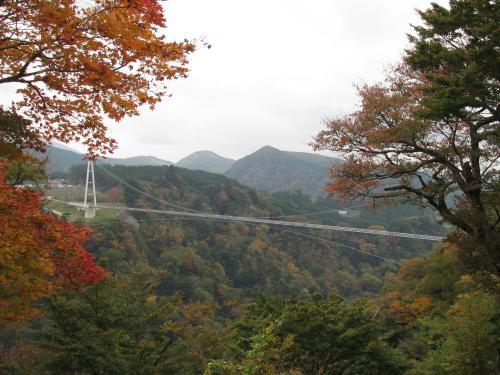 九重夢大吊橋の遠望