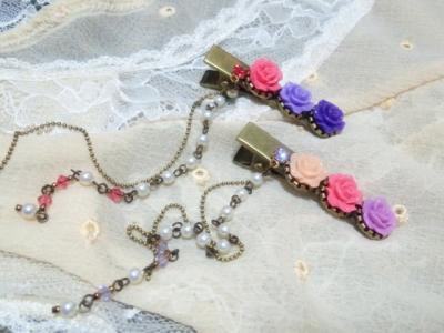 薔薇とクリスタライズのパールフリンジヘアクリップ1_convert_20120510224256