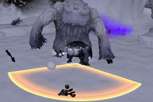 雪男に倒される