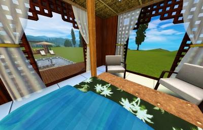 balibilla寝室_ベッドからの景色・昼