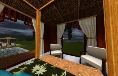 balibilla寝室_ベッドからの景色・夜