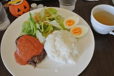 10.28 きぃのプレートランチ ハンバーグ