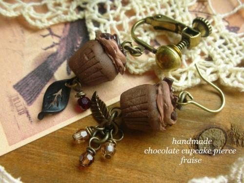 チョコカップケーキピアス2