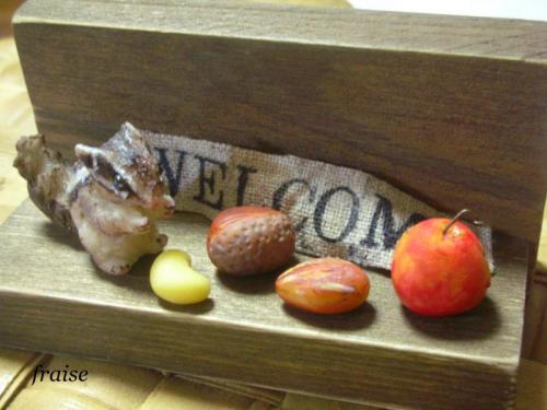 シマリスと木の実1