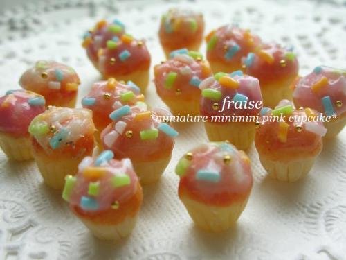 ミニミニピンクカップケーキ2