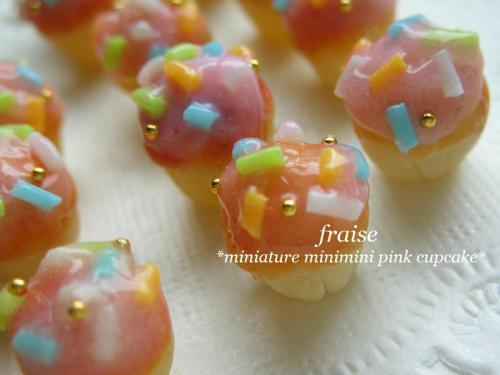 ミニミニピンクカップケーキ3