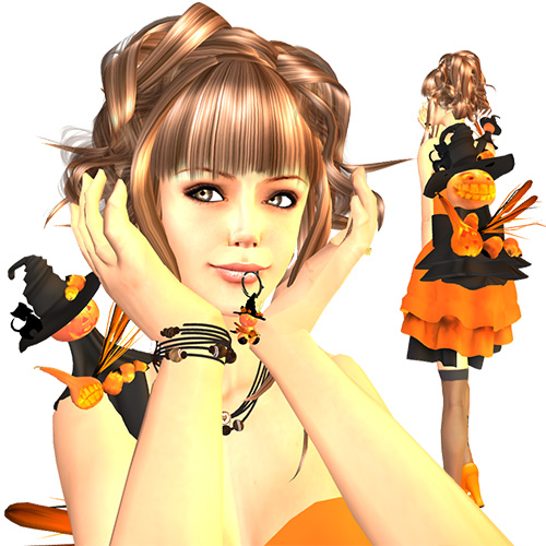 ハロウィンアイテム かぼちゃグッズとドレス